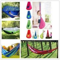 New Cotton Rope Single Person Swing Hanging Hammock Chair Cradle For  Outdoor Camping