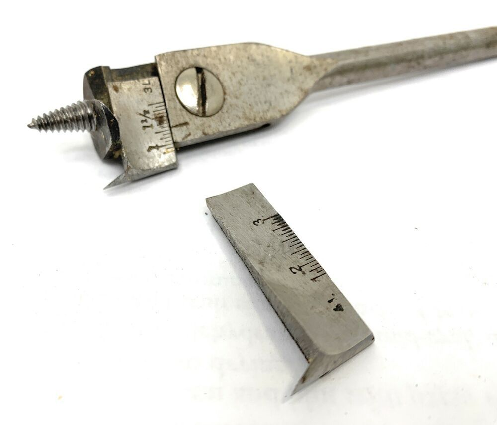 Vintage Irwin No 2 Adjustable Auger Drill Bit W 7 8 To 1 3 4 And 3 Bits Usa Irwin In 2020 Vintage Tools Drill Bits Vintage