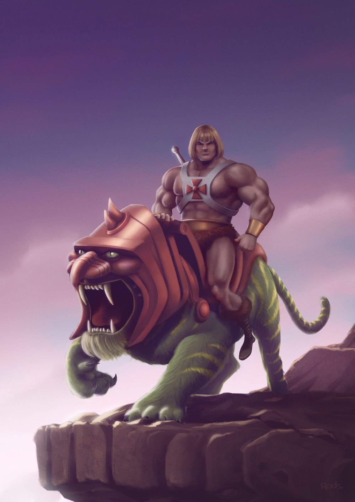 He Man And Battle Cat Rod Rods On Artstation At Https Www