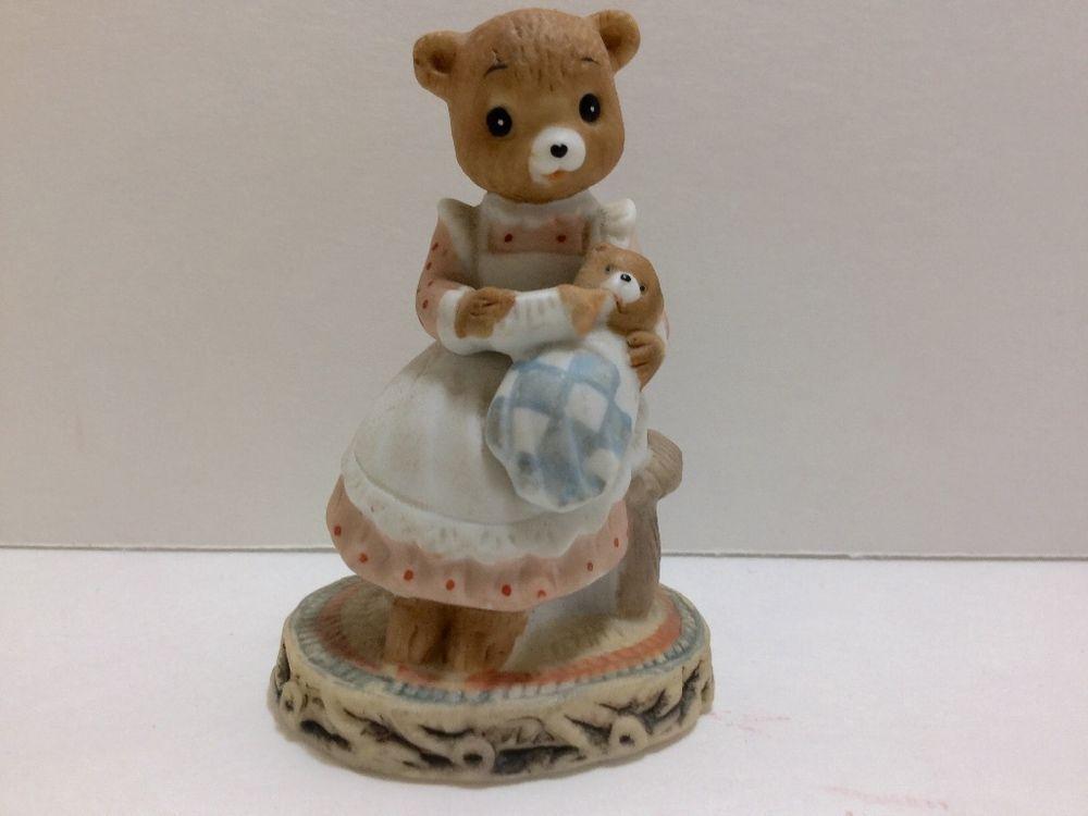 Lefton Honey Bears Baby and Mom 1983 #03584
