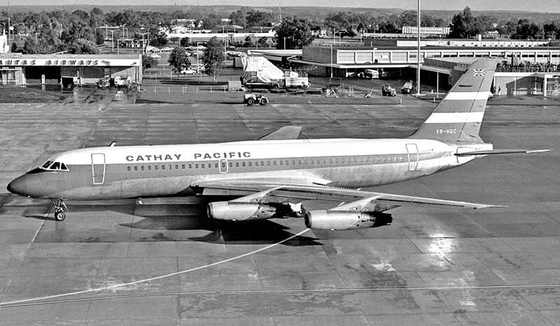 Perth Was Cathay Pacific S Only Australian Port In The Early 1970s Serviced At First By Their Convair 880m Fleet On Ar Cathay Pacific Perth Airport Air Photo