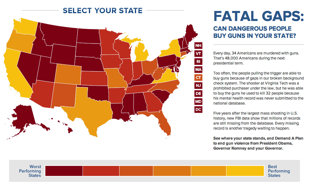 Mass Shootings By State Map.Carlee Soto Mayors Against Illegal Guns Gun Control Issues
