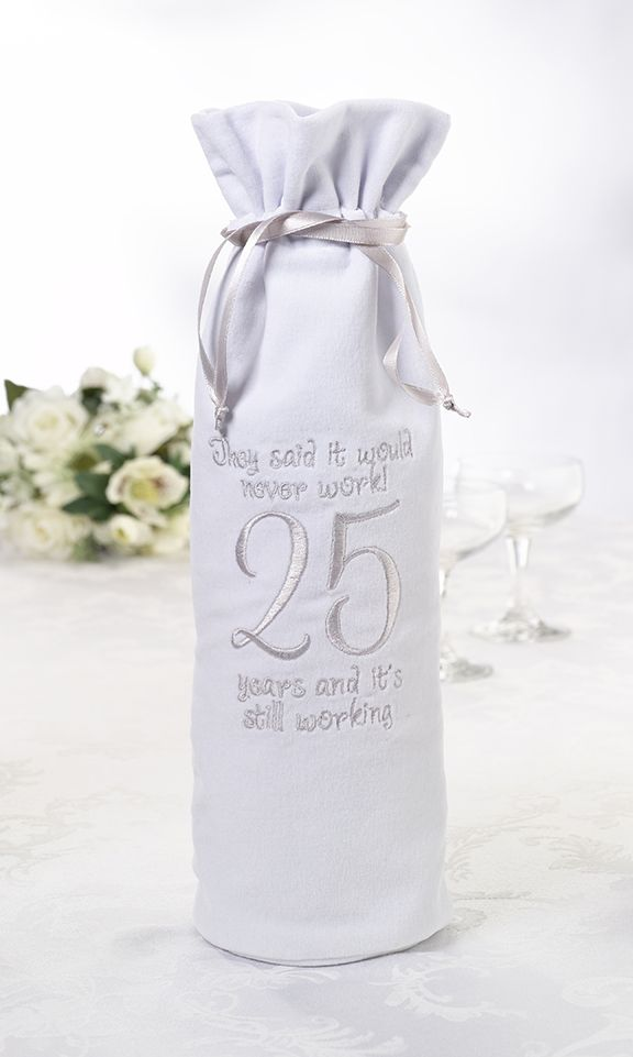 25th Anniversary Wine Bag - need for our anniversary - 8/29/1987