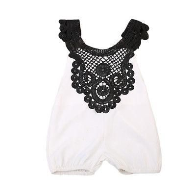 fb316bdb6cd Newborn Baby Girl Lace Romper Backless Jumpsuit Clothes Sun suit Party  Outfits