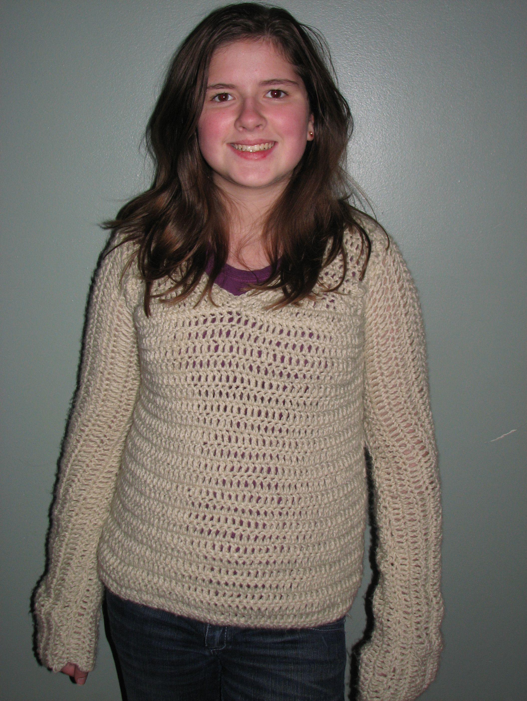 Crochet Spot » Blog Archive » Crochet Pattern: Allyson\'s Sweater ...