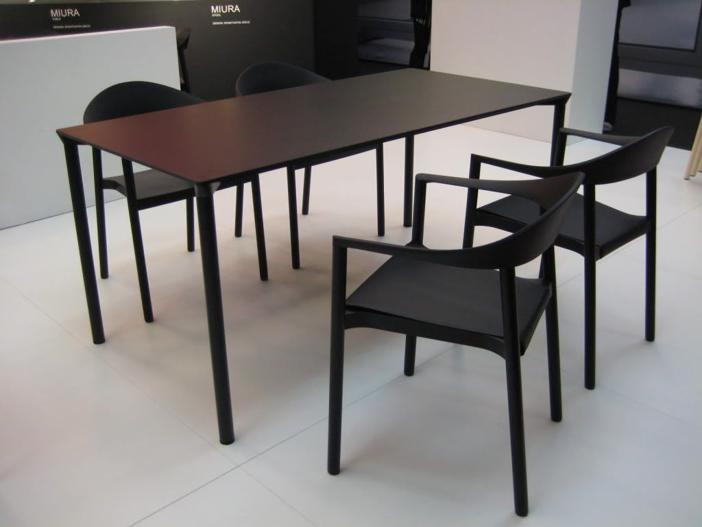 Plank Sedie ~ Monza table 160x80 & armchair ash black i design by konstantin