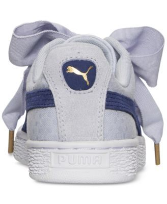 new style 6997c ff2dd ... Puma Women s Basket Heart Denim Casual Sneakers from Finish Line - Blue  8 ...