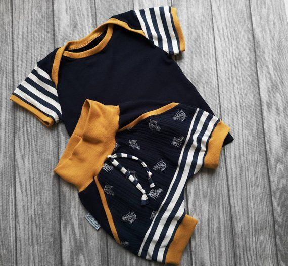 Photo of Sæt drengepumfose & skjorte kort baby sæt babytøj