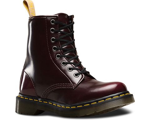 Martens Unisex Vegan 1460 Boot, Size: 5 M, Cherry Red Cambridge Brush