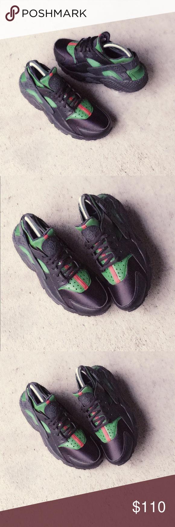76395af0b5bf6c Custom Nike Huaraches Gucci Black Custom Nike huaraches Women Gucci Inspired  Women size 11 (run small) Nike Shoes Athletic Shoes