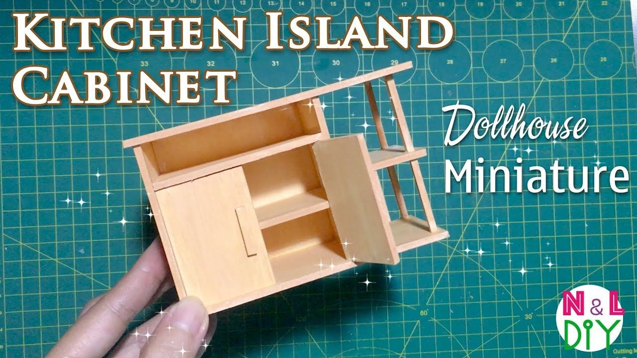 DIY Miniature Kitchen Island Cabinets | How to make Kitchen Island ...