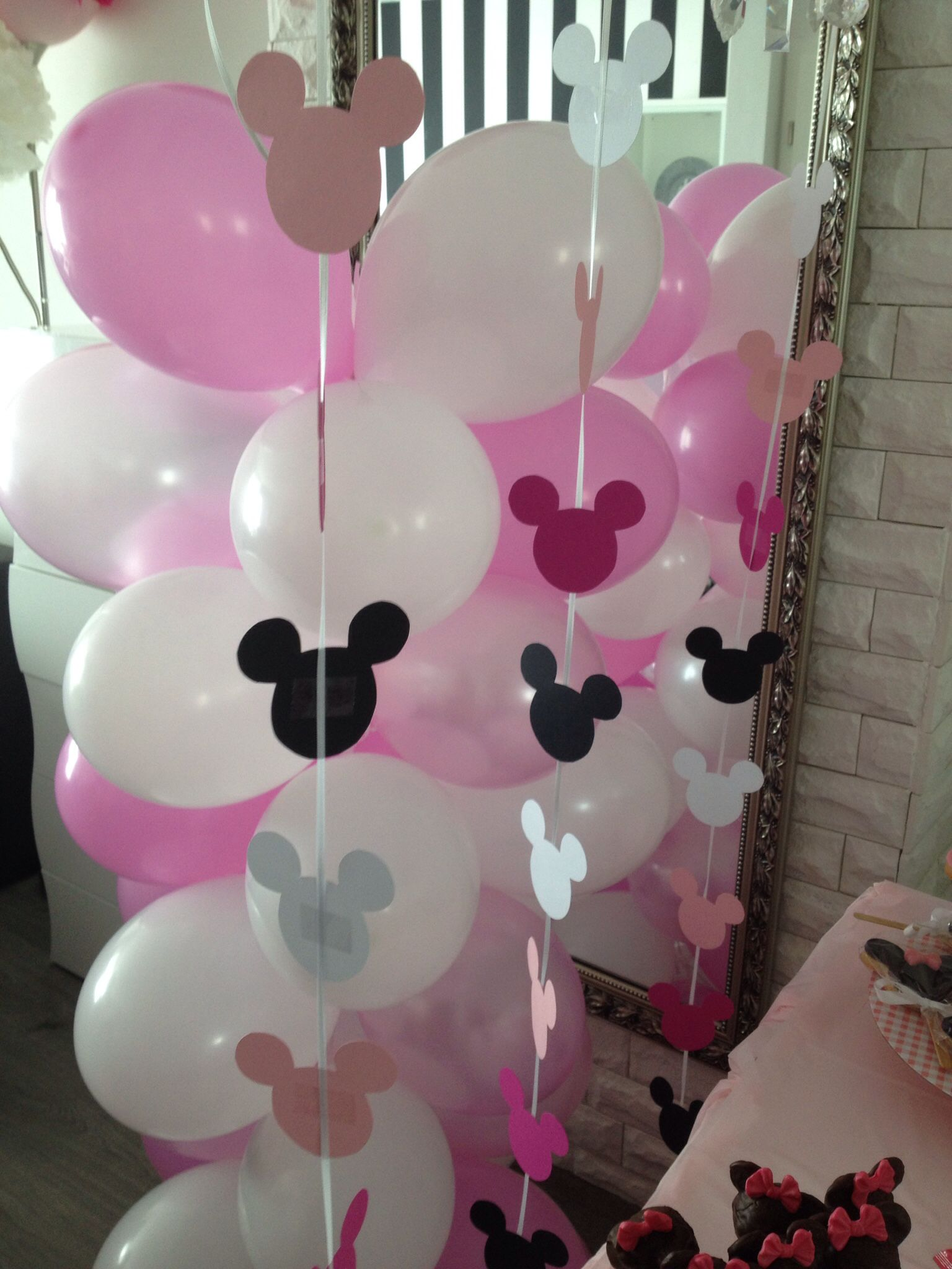 minnie maus party deko minnie maus in 2018 pinterest minnie maus geburtstag und m use. Black Bedroom Furniture Sets. Home Design Ideas