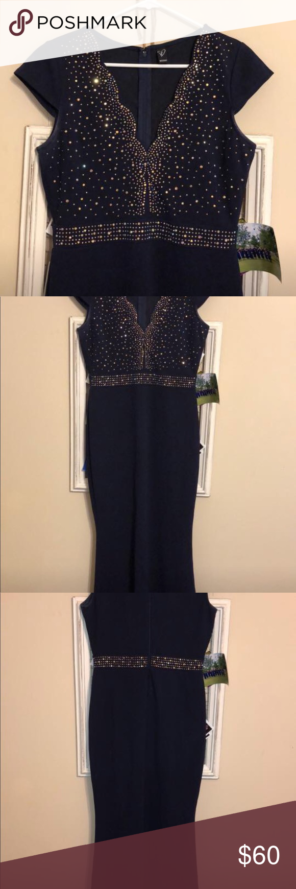 Mermaid fit prom dress perfect condition was altered to show less
