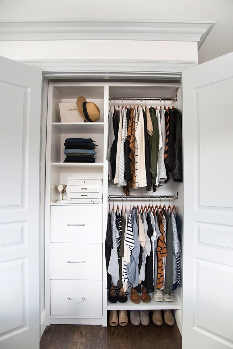 Don T Let Your Closet Door Become A Boring Feature Of The Room You Can Work With What You Small Closet Organization Bedroom Closet Bedroom Small Closet Design