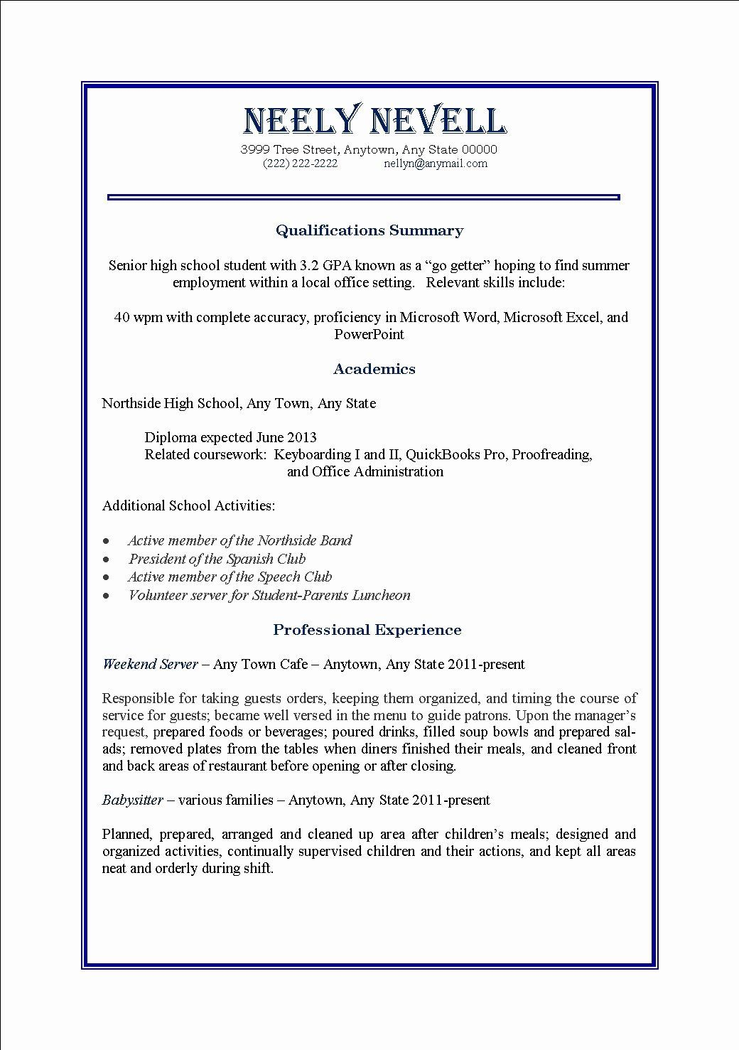 23 Basic Resume Examples For Part Time Jobs In 2020 Job Resume