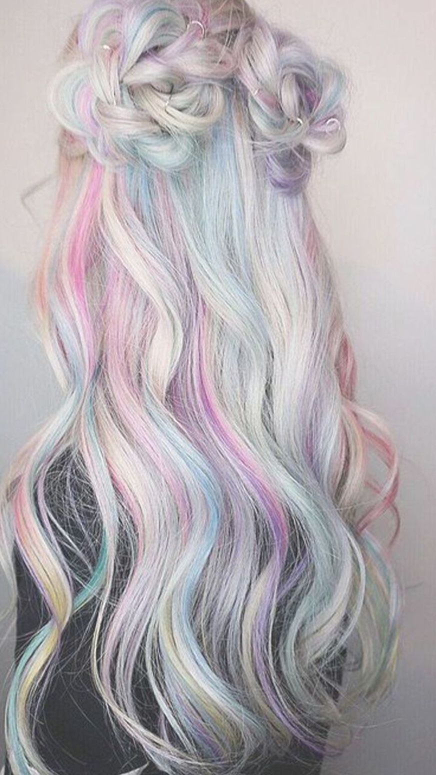 As though colorful beams of light were caressing your hair, this