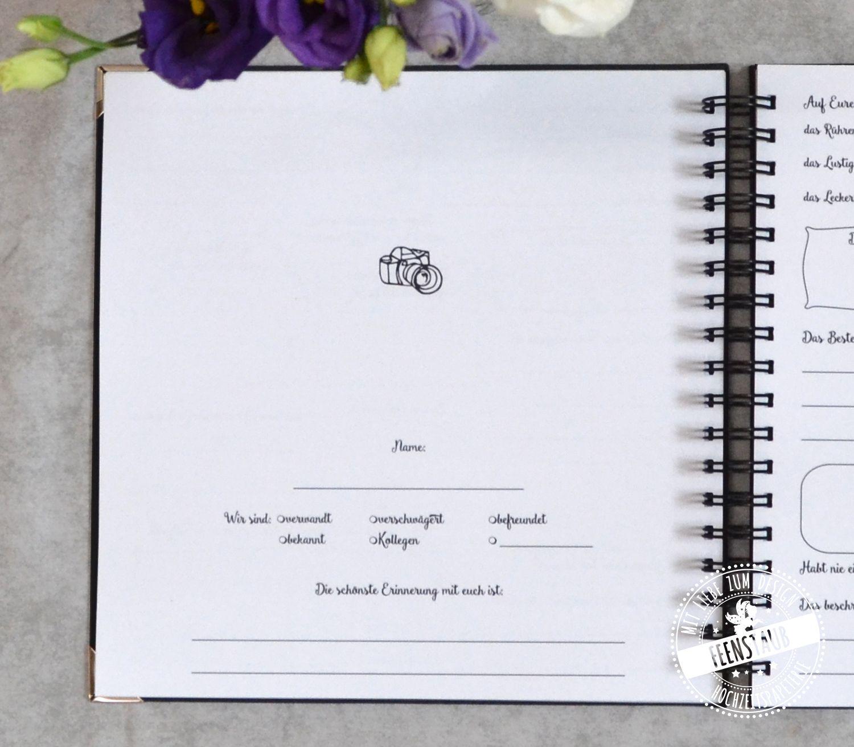Hochzeit Gastebuch Mit Fragen Gastebuch Hochzeit Hochzeit Gastebuch Ideen Hochzeit