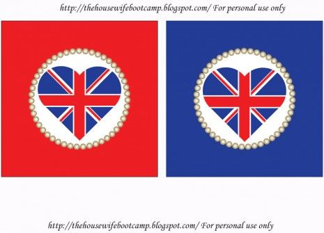FREE Royal Wedding Viewing Party Printables from The Housewife