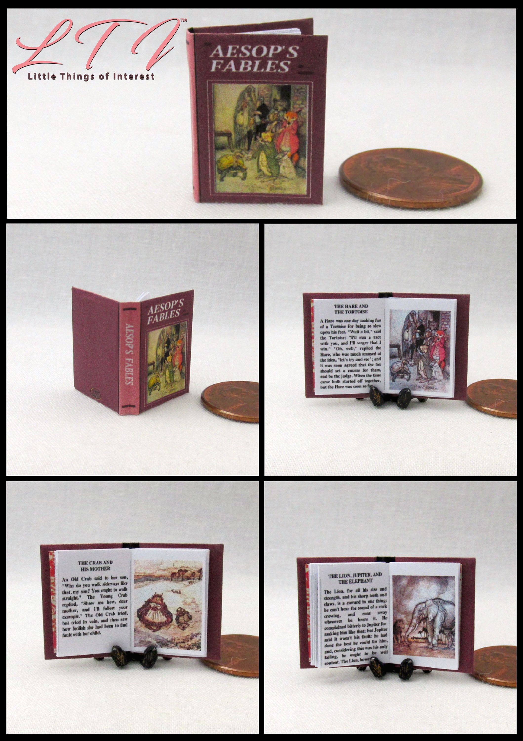 THE FAIRY RING Miniature Books Dollhouse 1:12 Scale Readable Illustrated Book