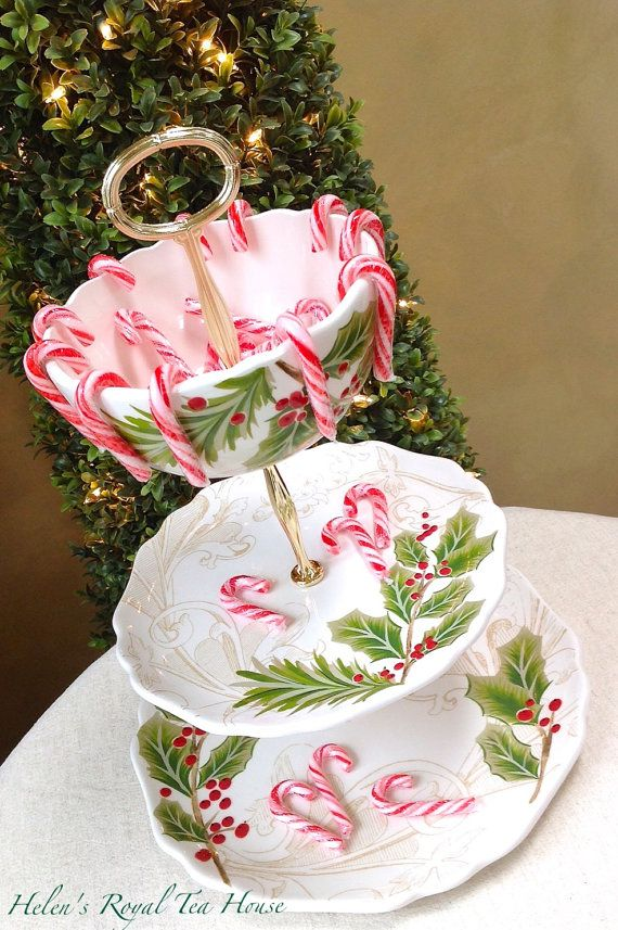 3 Tier Cake Stand Christmas Tier For By Helensroyalteahouse Christmas Tree Stand Tiered Cake Stands Tiered Cake Stand