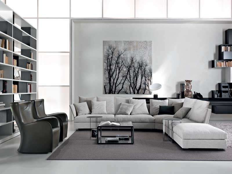 Idee per arredare un salotto moderno arredamento for Soggiorno e salotto