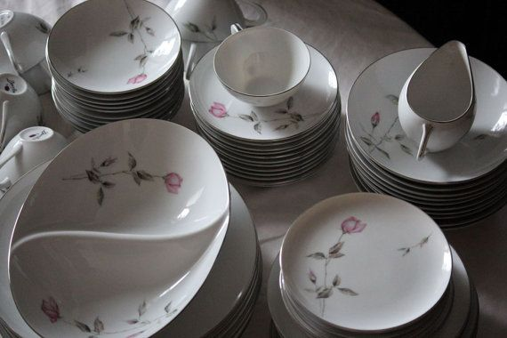 "Dawn Rose Fine China 6/"" Bread Plate  Style House Vintage Discontinued in 1959"