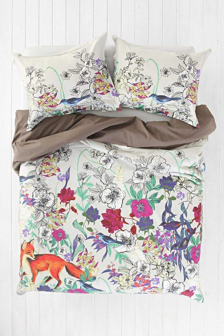 Plum & Bow Forest Critter Duvet Cover