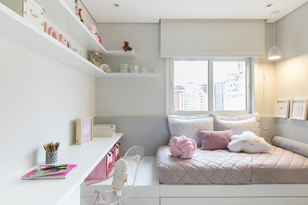 Charme e delicadeza na decoraç u00e3o do quarto feminino infantil Meu quarto em 2019 Quartos  -> Decoração Quarto Infantil Masculino Pequeno Simples E Barato