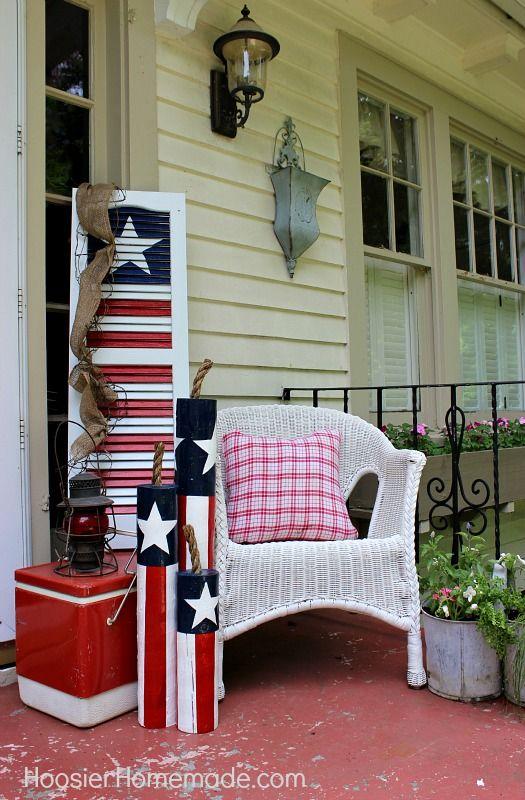 diy wooden firecrackers: summer front porch decorating | summer