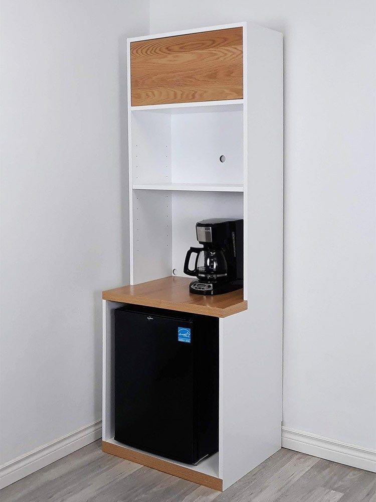 Multi Functional Cupboard Mini Fridge Microwave Cabinet Spark Shell In 2020 Microwave Cabinet Mini Fridge Mini Fridge Cabinet