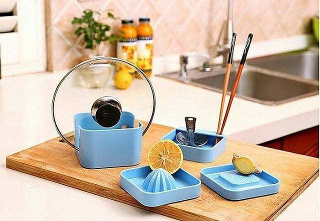 Kitchen Tools Ready 3warna Biru Ungu Hijau Set Peralatan Dapur Dengan Design Simple 1