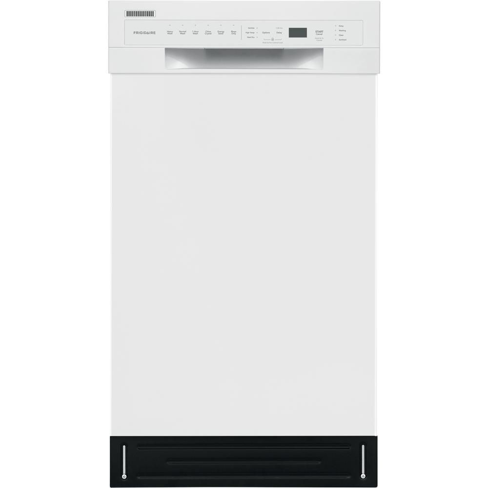 Frigidaire 18 In White Front Control Built In Tall Tub Dishwasher With Stainless Steel Tub Energy Star 52 Dba Ffbd1831uw The Home Depot Built In Dishwasher Steel Tub Dishwasher White