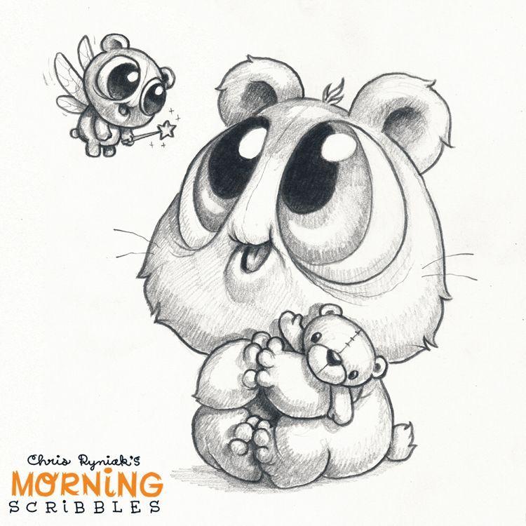 Scribble Monster Drawing : Morning scribbles chris ryniak on patreon