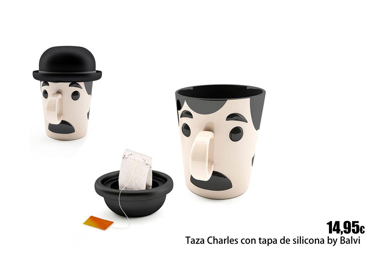 Taza Charles con tapa de silicona.