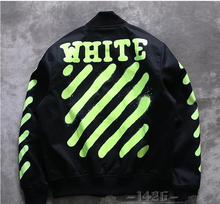 f16e385440eb OFF WHITE FLUORESCENT INKJET STRIPE BLACK GREEN JACKET  ink  jet  inkjet   leisure  offwhite  upforsale  outfits  winteroutfits  sportwear  jacket    ...