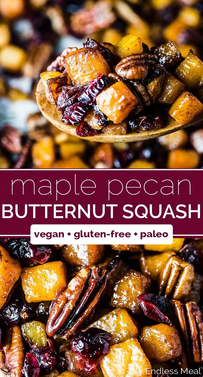 Maple Roasted Butternut Squash SAVE FOR LATER! Map