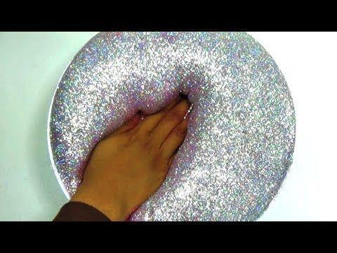 glitzer schleim selber machen how to make slime fluffy hologram glitter slime youtube