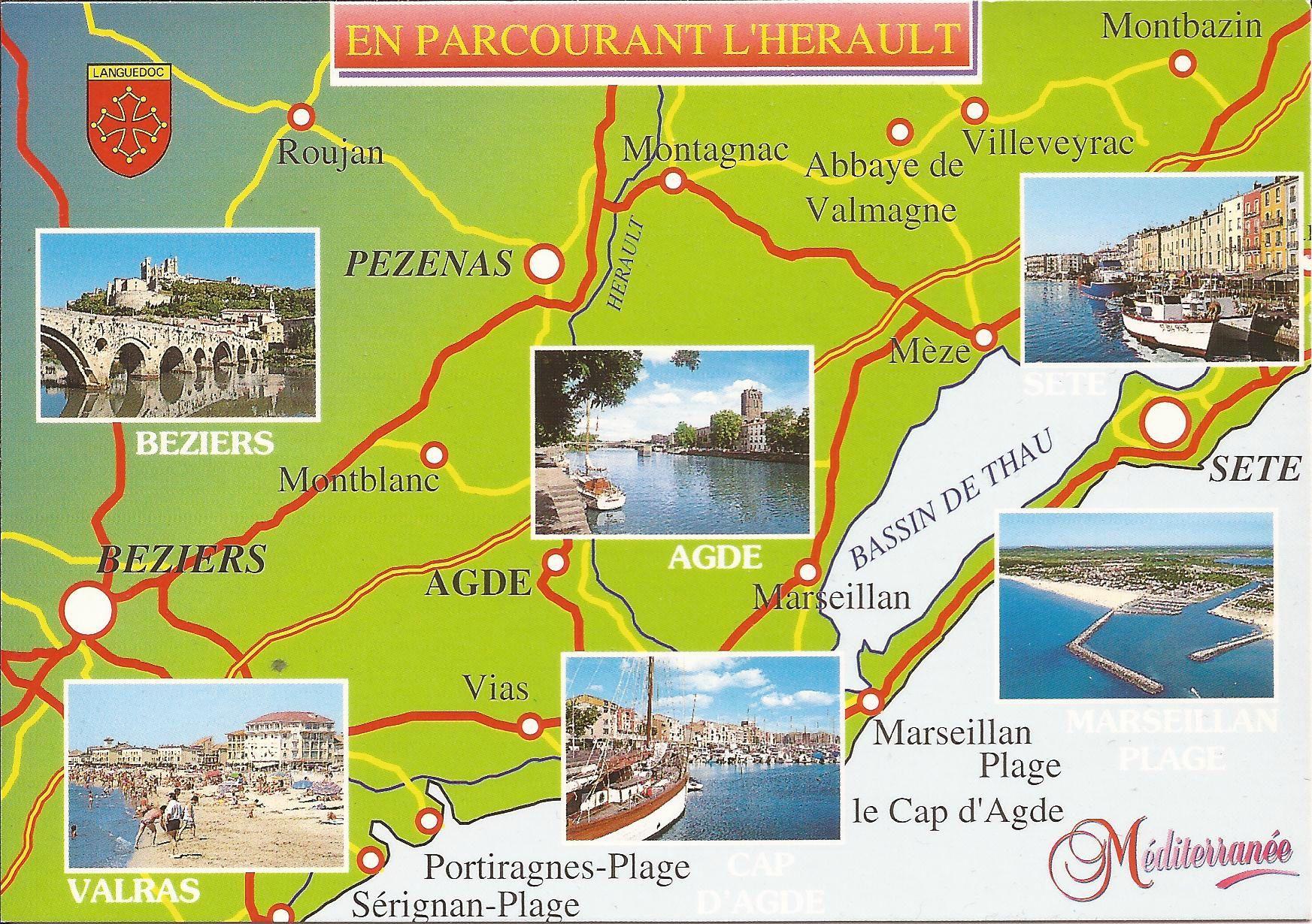 34 Hérault - Dans ma boîte aux lettres (cartes postales de France) | Serignan plage, Marseillan ...