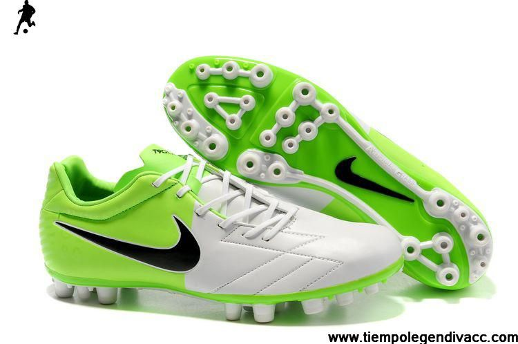 Latest Listing Cheap Nike T90 Shoot IV AG Boots - White-Electric Green-Black