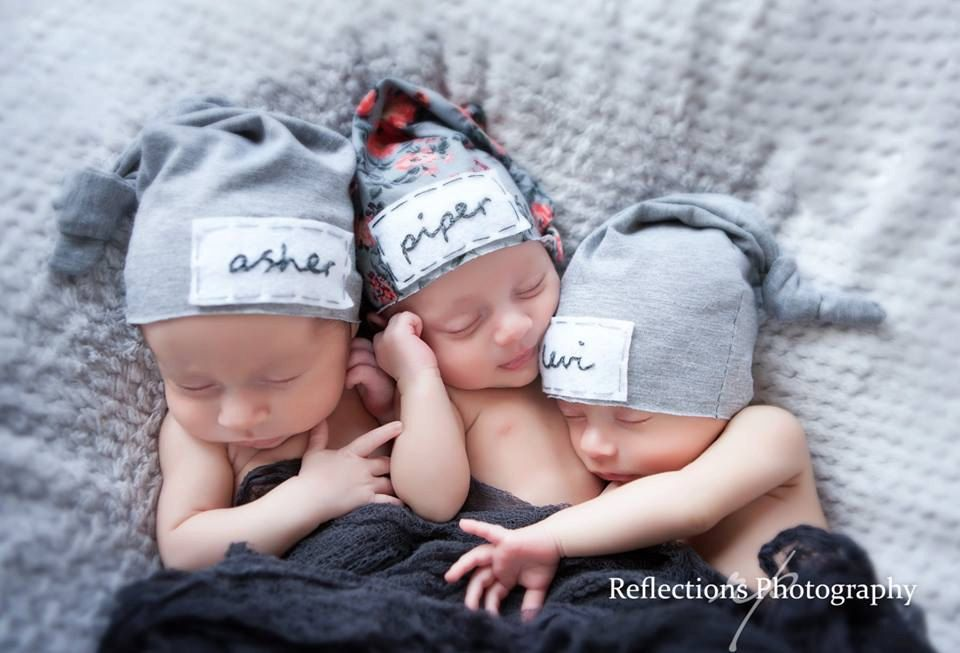 newborn personalized hat- triplets -personalized newborn hat - baby gifts -  baby boy - baby girl - name hat - baby beanie - hospital hat - pinned by ... 4e614df02e5