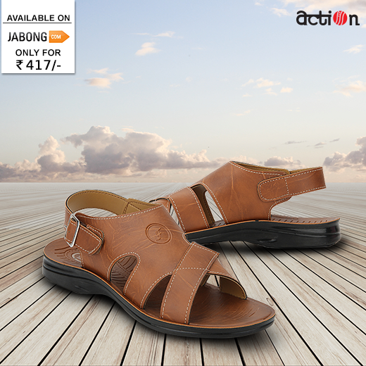 a9e9c3f3f1d Celebrate the arrival of  summers in these tan sandals from the house of   Action. Grab this pair at Jabong