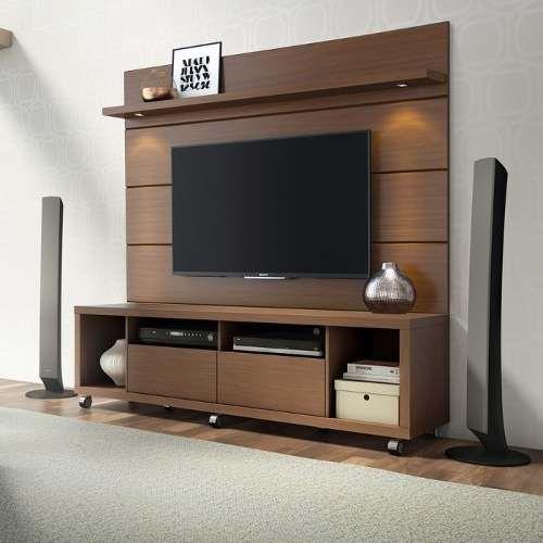 Rack com painel pesquisa google sof pinterest - Television pequena plana ...