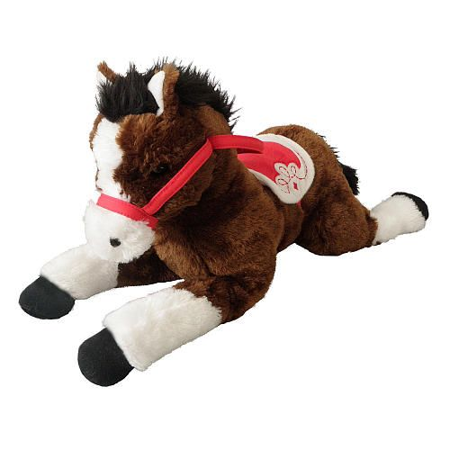 Stuffed Horse Toy : Toys r us plush inch lying horse brown