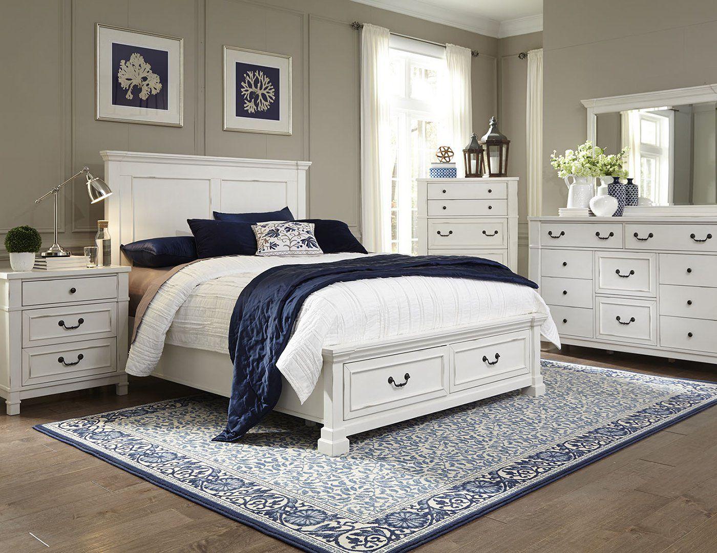 Williamson King Storage Bed White Bedroom Set Bedroom Sets Vintage Bedroom Furniture