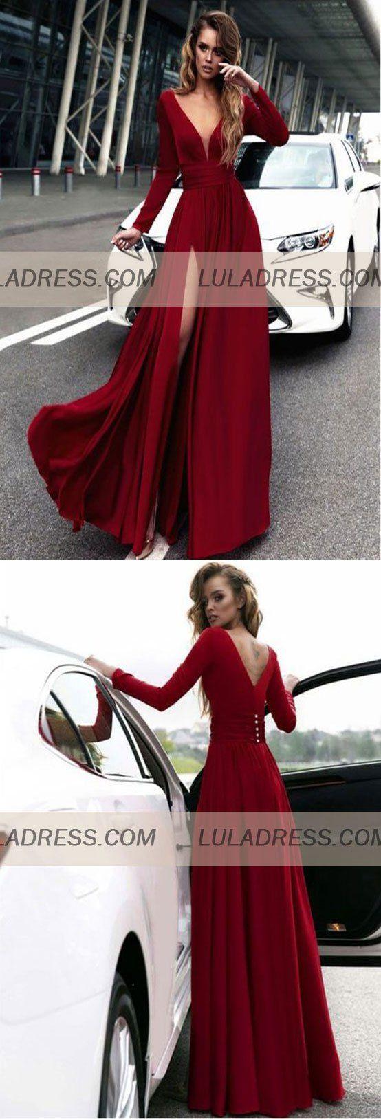 Gorgeous long prom dresses long sleeves prom dressbd
