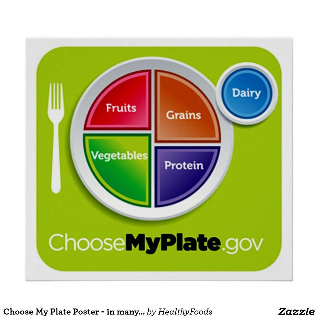 Choose My Plate Poster in many sizes My plate