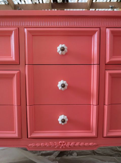 make bake and love: Coral Dresser for the Nursery