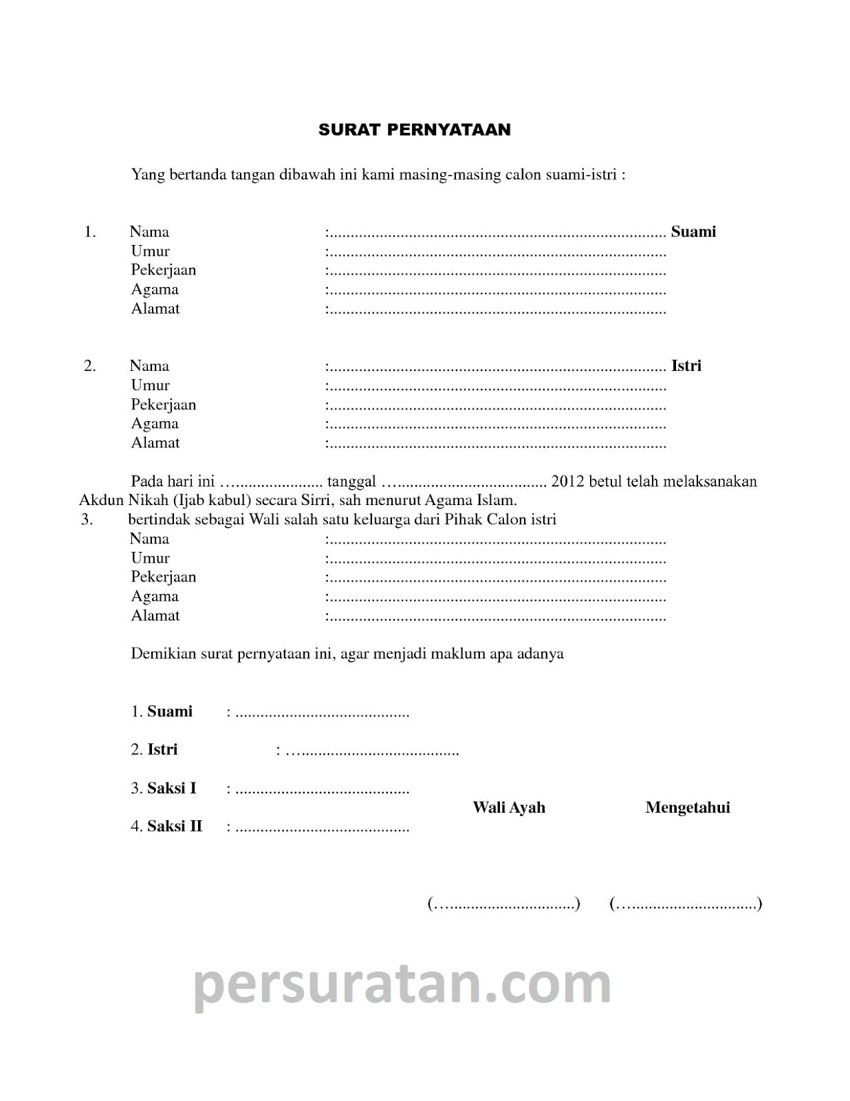 Contoh Soal To Akuntansi Contoh Surat Nikah Siri Resmi Surat Akuntansi