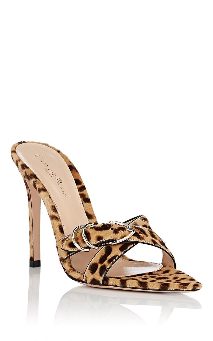 11a4e711af58 Gianvito Rossi Leopard-Print Calf Hair Mules - 7 Brown | Products ...
