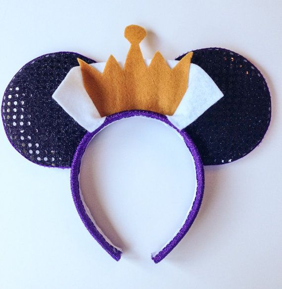 The Evil Queen -- Snow White Mickey Ears   Diy disney ears ...Disney Evil Queen Ears